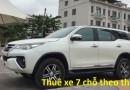 Dịch vụ cho thuê xe du lịch 7 chỗ theo tháng uy tín, giá tốt tại Hà Nội